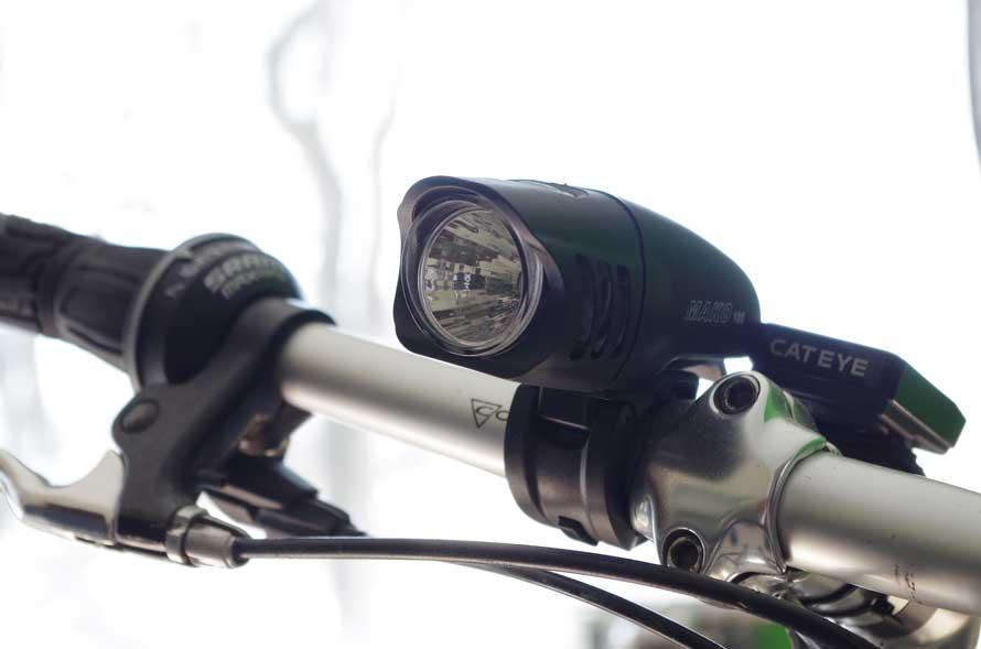 A bike light on a bike in Australia
